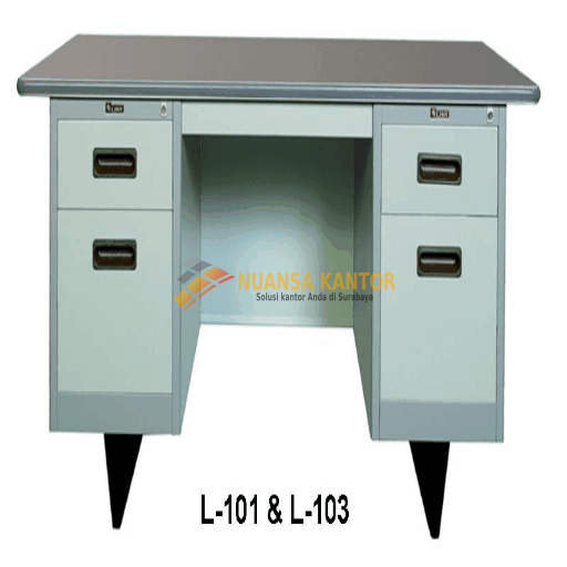 Meja Kantor Besi Berikut Laci type L-101 & L-103