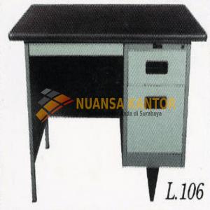 jual Meja Kantor Besi Berikut Laci type L-106 surabaya