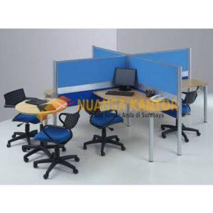 Partisi Kantor Modera 1 WS 4 Staff
